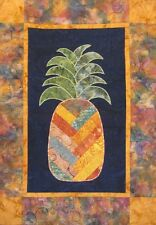 New Pieced and Applique Quilt Pattern  WELCOME PINEAPPLE  24x16 Wallhanging