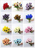 10pcs Artificial False Tulip Fake Flowers Bouquet Garden Room Home Wedding Decor