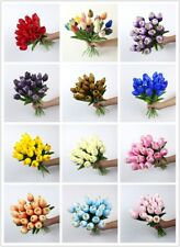 10pcs Artificial False Tulip Fake Flowers Bouquet Garden Room Home Wedding Decor