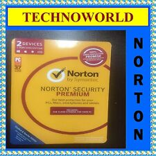 SYMANTEC NORTON SECURITY PREMIUM 3.0 2GB 2 DEVICE 1 YEAR PC MAC PHONE TABLET