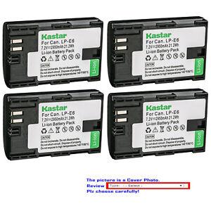 Kastar Battery Replacement for Canon LP-E6 LP-E6N LC-E6 & Canon EOS 6D Mark II
