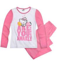Ensemble pyjama blanc pour fille de 2 à 16 ans
