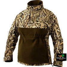 LADY DRAKE WATERFOWL MST EQWADER PLUS QUARTER ZIP JACKET BLADES CAMO WOMENS XS