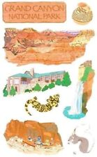 ~ Grand Canyon National Park Travel Holiday America Grossman Stickers ~