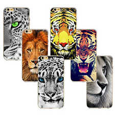 Tiger Lion Evil Animal Pattern Ultrathin TPU Case Cover For iPhone 4/5/6/6plus/7