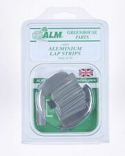 Pack of 50 Aluminium Lap Clips 40 mm x 12 mm ideal for wood greenhouse