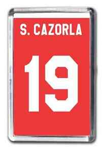 Santi Cazorla Arsenal Inspired Number 19 Football Shirt Fridge Magnet