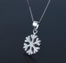 Collana da Donna Silver Argento 925 Fiocco di Neve A235