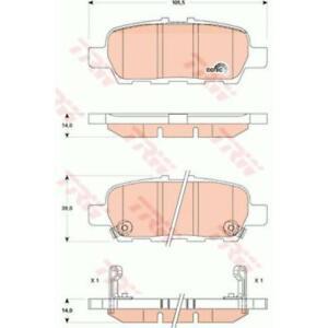 TRW Plaquette de Freins GDB3508 Sabots de Frein pour Nissan Juke F15