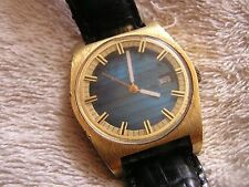 Vintage Modern Swank 17 Jewel Watch with Blue Dial