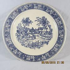 Homer Laughlin Shakespeare Country platter village scene blue leaves berries