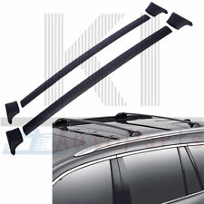 Set (Pair) Roof Top Rack Aluminum Cross Bar Black For 2016-2018 Honda Pilot
