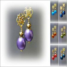 Hook Gold Plated Handcrafted Earrings without Stone