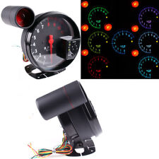 5 Inch Stepper Motor Car RPM Tachometer Gauge 7 Color Backlight 11000K Max RPM