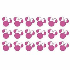 """Lot of 24 - 3"""" Pink Minnie Mouse Wall Decals - Disney"""