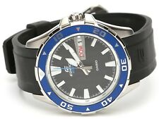 Casio Edifice Mens Stainless Steel Black Blue Watch 0274