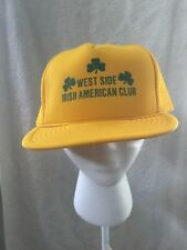 Vintage West Side Irish American Club Cleveland Ohio Snapback Trucker Mesh Hat