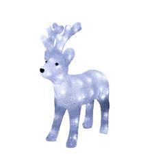 LED Acryl Rentier Elch 44 cm beleuchtet Weihnachtselch Außen 70519
