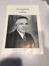 Hunting-Fishing And Camping Catalog L.L. Bean 1961