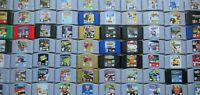 *AUTHENTIC* Nintendo 64 N64 Games Zelda Super Mario Kart Banjo 007 TESTED - PICK