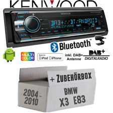 Kenwood Autoradio für BMW X3 E83 DAB+ Bluetooth CD 2x USB iPhone Android Set