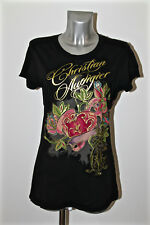 t-shirt heart and flowers ED HARDY audigier the new size L value