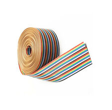 2M 6.6ft 40 Way 40 pin Flat Color Rainbow Ribbon IDC Cable Wire Rainbow Cable N