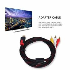 5ft HDMI Male to RCA Video Audio AV Cable Adapter for PS3 PS4 Xbox One Wii #EF