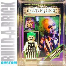 Beetle juice Custom Mini Action Figure w Display Case & Stand392 Tim Burton Film