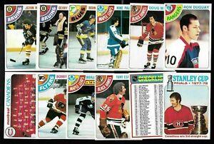 1978-79 TOPPS 78-79 NHL HOCKEY CARD 133-264 SEE LIST