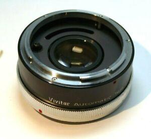 Vivitar 2X Lens Teleconverter Extender for Canon FD/FL manual focus 50mm f1.8