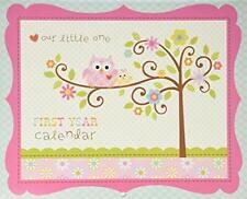 Babies First Year Calendar-Happy Baby Girl-Cr Gibson Baby Girl,Owl, Milestone