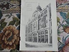1901 ...Bauzeitung 60 / Haus Allgemeine Zeitung München Ludwigsvorstadt Sizilien