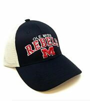 Ole Miss Rebels Snapback Hat Adjustable Mesh Trucker Cap
