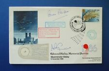 1986 EDMOND HALLEY MEMORIAL SERVICE COVER SIGNED BY ANDY CRANE & BRIAN HARPUR