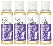 4x Foot Works Beautiful Lavender 3 in 1 Pampering Oil Moisturizer Cuticle Oil !