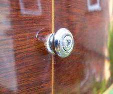 Correa de Cabeza Hongo convexa/botón para Guitarra Acústica End Pin Cromo Plateado