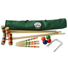 Traditional Garden Games Family 96cm Croquet Set in Cavas Bag Sport Outdoor Fun