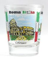 ROME ITALY LANDMARKS AND ICONS COLLAGE SHOT GLASS SHOTGLASS