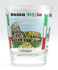 ROME ITALY LANDMARKS AND ICONS COLLAGE SHOT GLASS SHOTGLASS