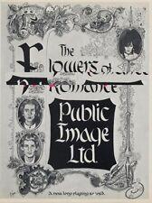 PIL Public Image Ltd Sex Pistols 'The Face' advert #1 ABC
