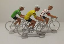Tour De France Winner cycling figurines set miniature Yellow Green Polka Jersey