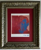 ANDY WARHOL + 1984 SIGNED  SELF PORTRAIT PRINT MATTED 11X14