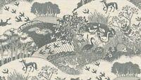 Fat Quarter Heartwood Animals Grey Fox Deer 100% Cotton Quilting Fabric Makower
