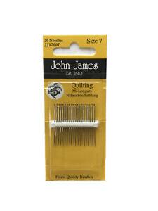 John James Quilting/Betweens Needles Sz 7 20pc
