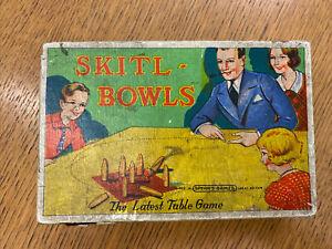 Vintage Original Skitl- Bowls Table Game Spears Games