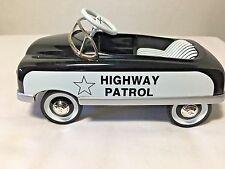 1948 BMC Toys HIGHWAY PATROL 1:6 Die-Cast Pedal Car Bank NIB