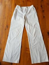 CUE Cream/Pink Pinstripe Stretch Pants Size 8