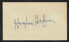 Hugh Hefner Playboy Autograph Reprint On Genuine Period 1960s 3x5 Card