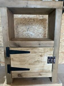 Chunky Rustic Farmhouse Bedside Table, Lamp Stand.
